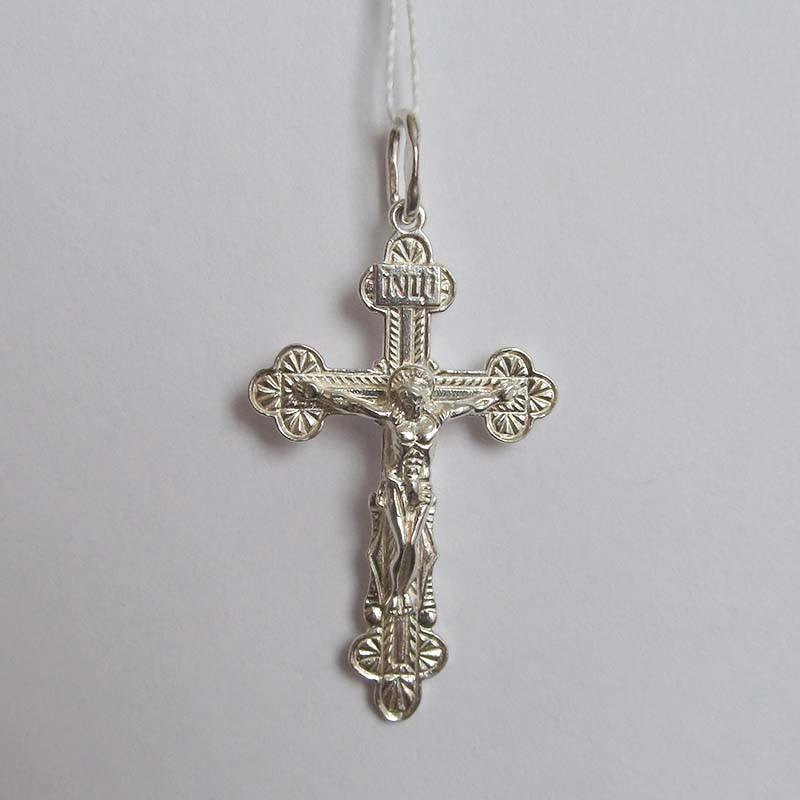 Серебряный крестик с Распятием (1.4.0031с)