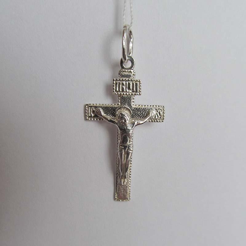 Серебряный крестик с Распятием (1.4.0057с)