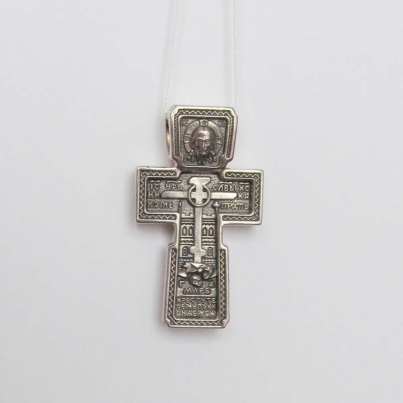 Серебряный нательный крест 1.4.0428с