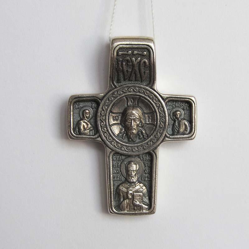 Серебряный нательный крест Архангел Михаил (1.4.0431с)