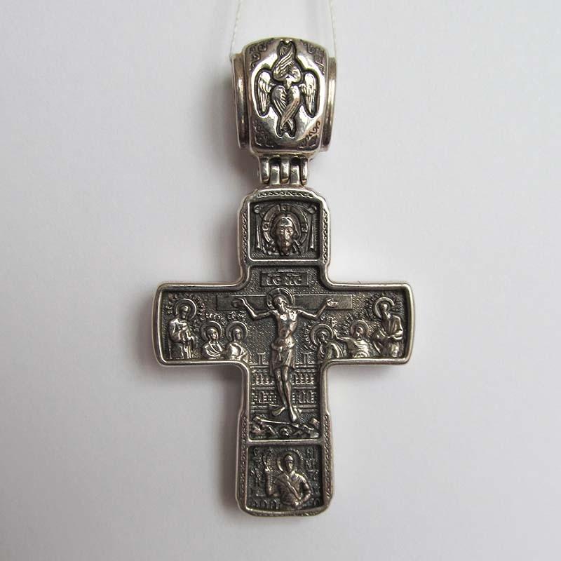"""Серебряный нательный крест """"Распятие Христа"""" 1.4.0451с"""