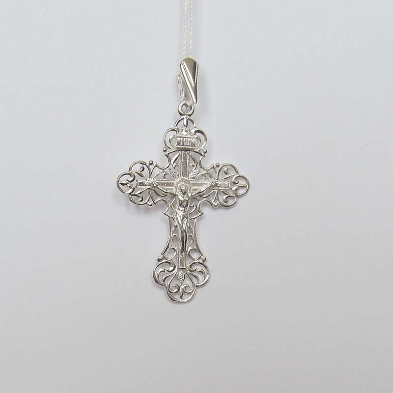 Серебряный нательный крестик (1.4.0601с)