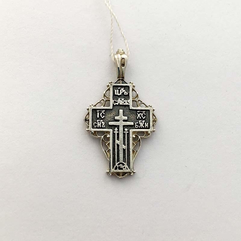 Серебряный нательный крестик (1.4.0754с)