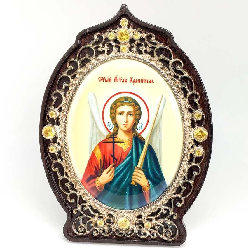 Серебряная икона Ангел Хранитель (2.78.0939)