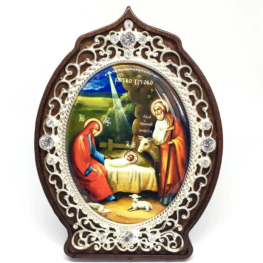 Серебряная икона Рождение Христа (2.78.0994л-2)