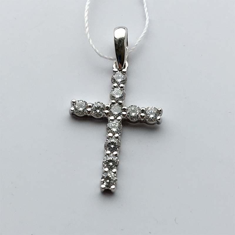 Серебряный нательный крестик (30307)