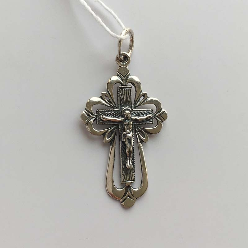 Серебряный крестик с Распятием (3100005)