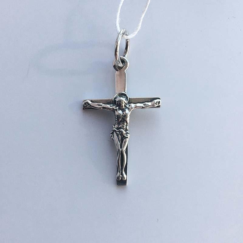 Серебряный крестик с Распятием (3100313)