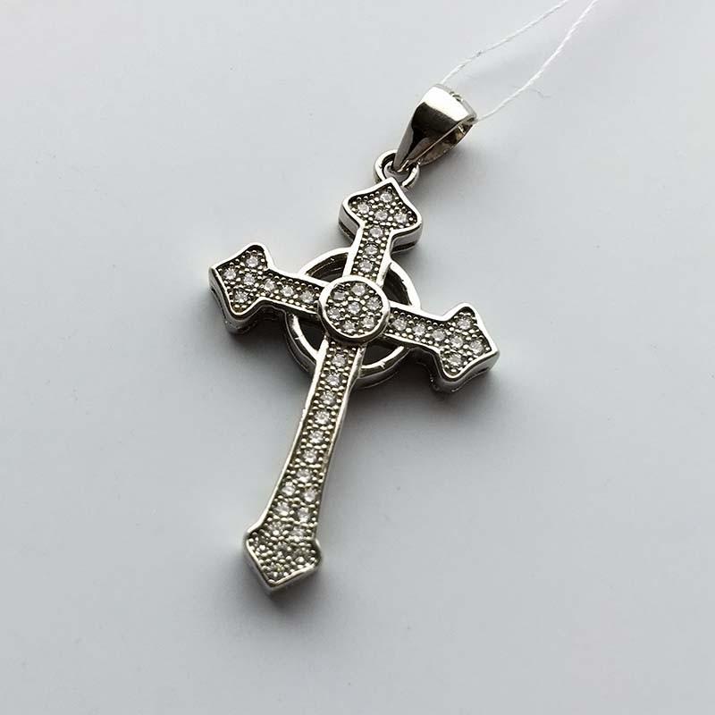 Серебряный нательный крестик (430393)