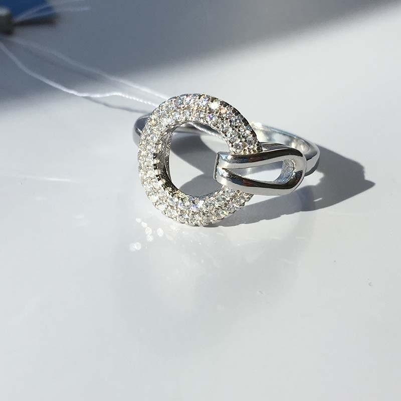 Серебряное кольцо с фианитами (410576)