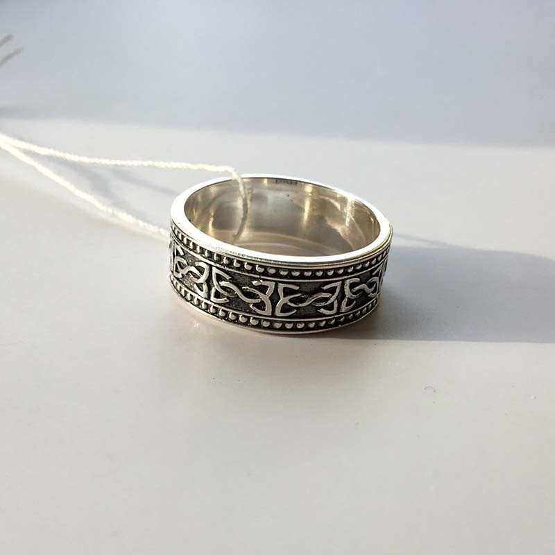 """Серебряное руническое кольцо """"Привлечение партнёра"""" R-7705Ag"""