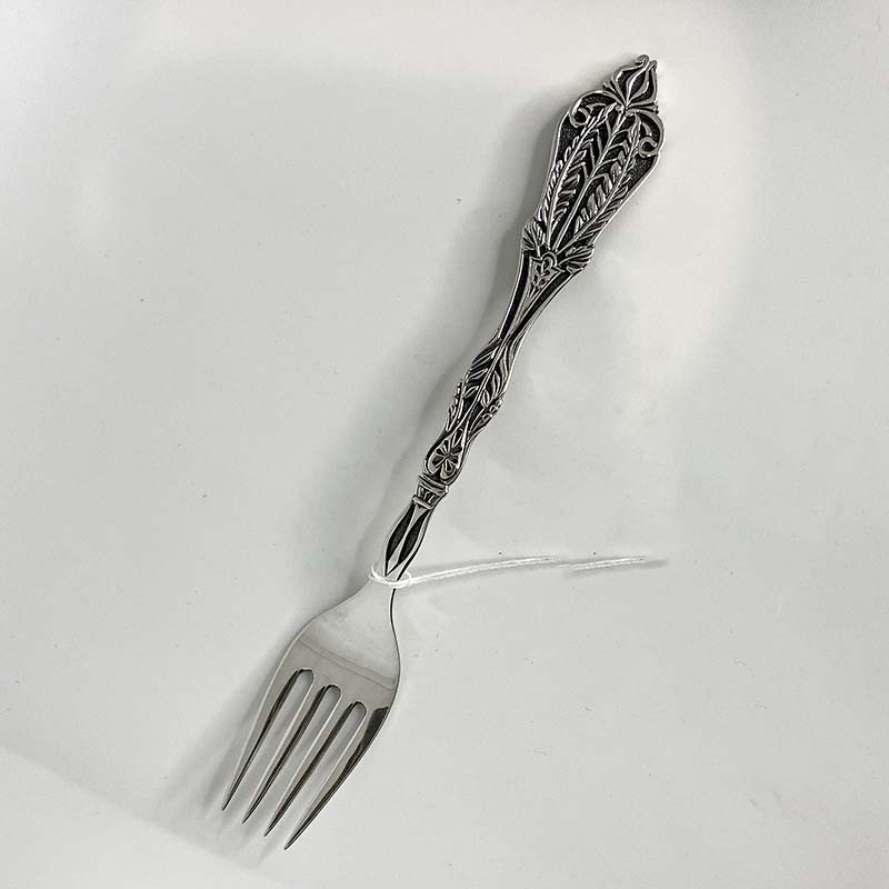 Серебряная вилка для ребенка Колос (8100177)