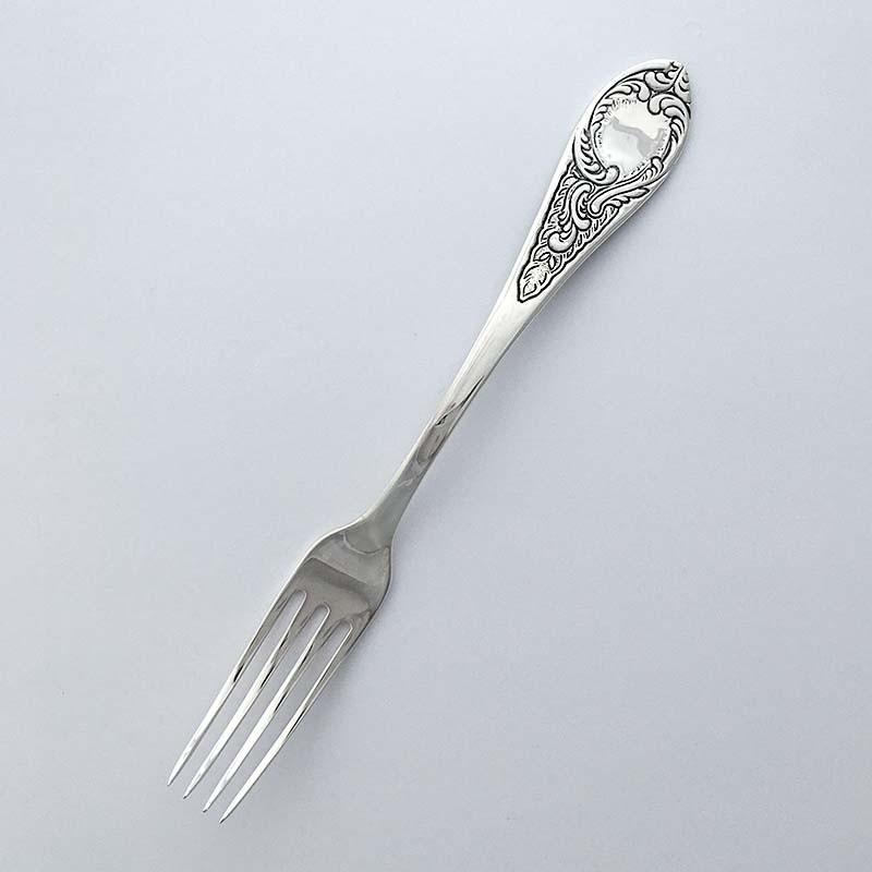 Десертная серебряная вилка Элегант (8100438)