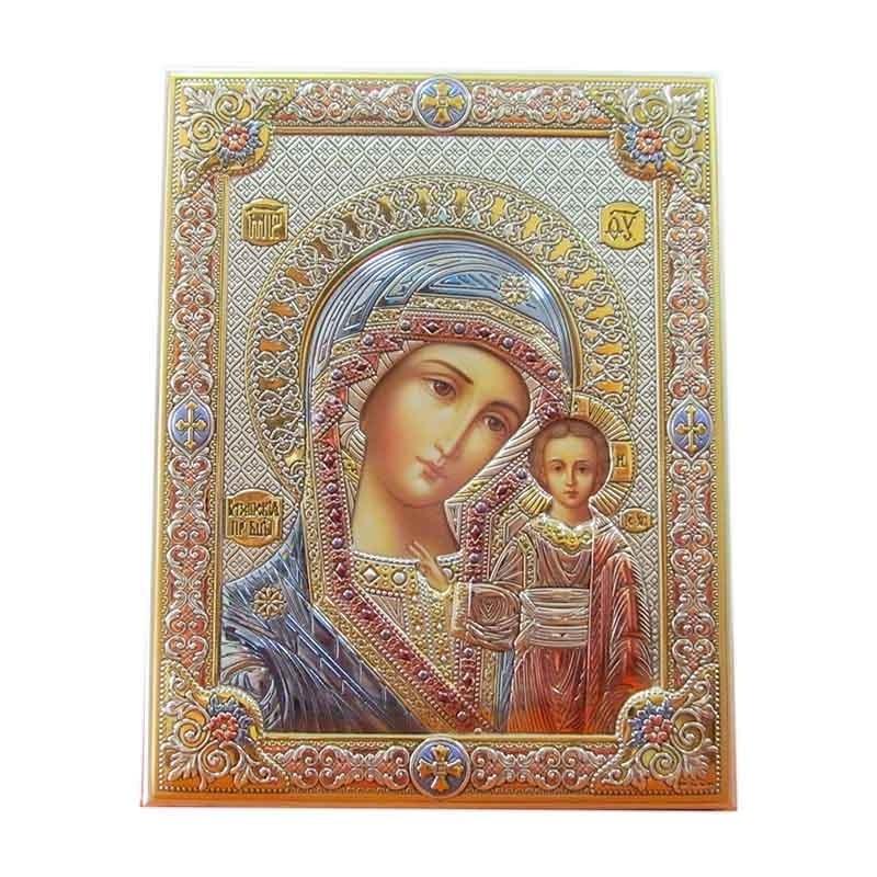 Икона Богородицы Казанская Valenti с эмалью (85302)