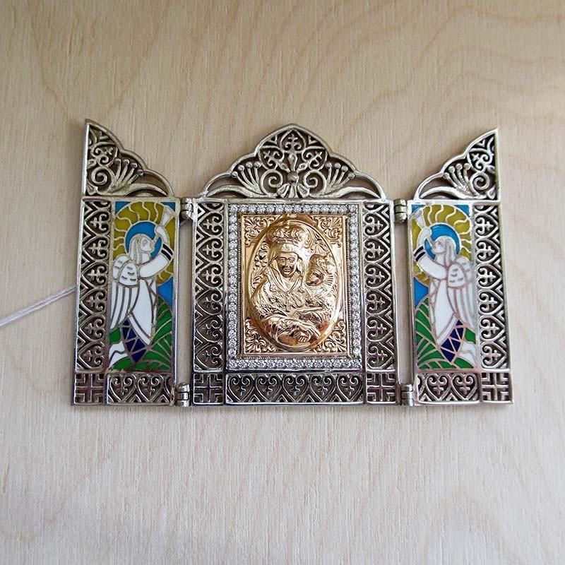"""Складная икона Богородицы """"Утоли моя печали"""""""