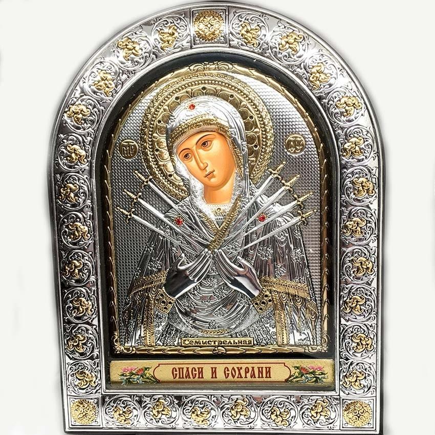 Икона Божией Матери Семистрельная (EPZ4-152AG-BR.P)