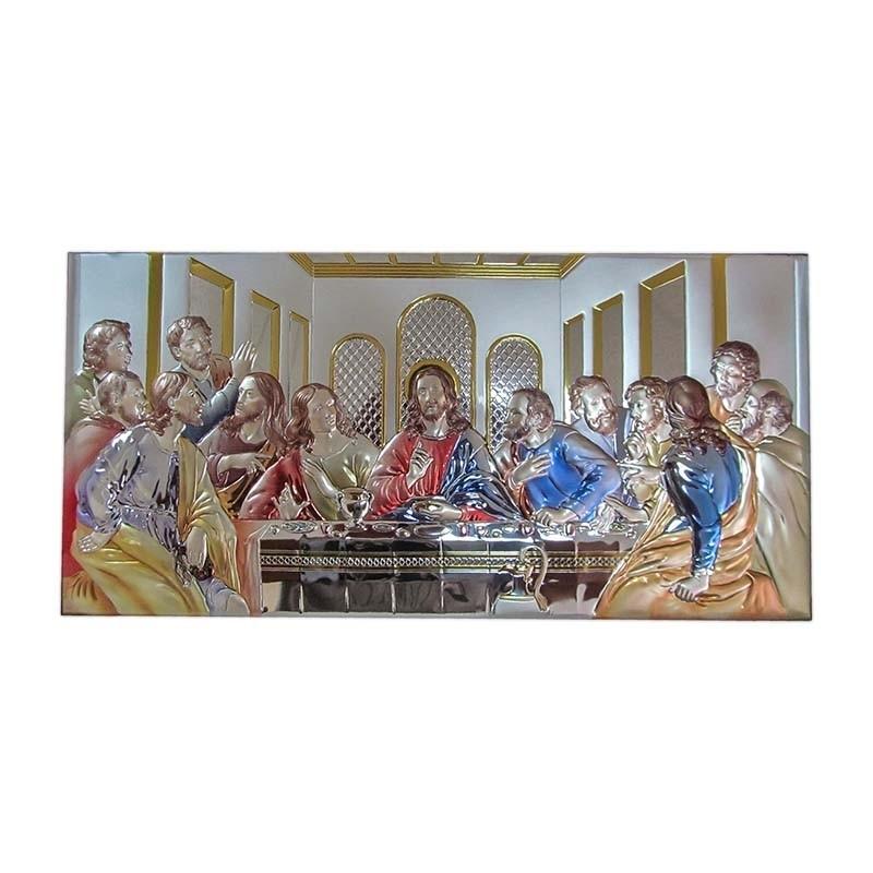 """Картина """"Тайная Вечеря цветная"""" с эмалью (81221)"""
