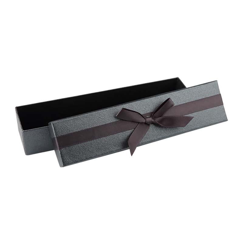 """Подарочная упаковка """"Серый бант"""""""