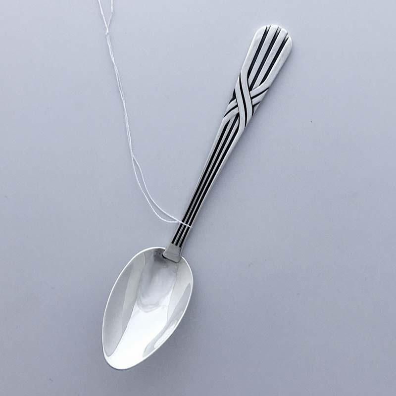 Серебряная чайная ложка Линия (ЛР-35)