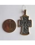 """Серебряный крест """"Покров Пресвятой Богородицы"""" с позолотой"""