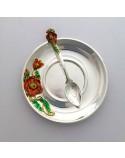Набор серебряной чайной посуды Маки