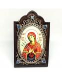 Серебряная икона Боже Матери Семистрельная (2.78.0609)