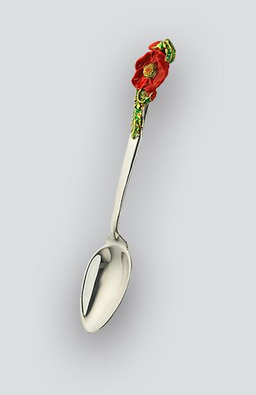 Серебряная чайная ложка Мак